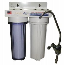 Mosogató alá szerelhető kétfázisú vízszűrő