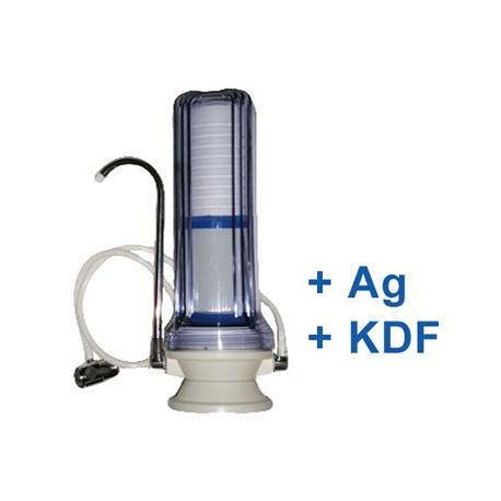 Asztali víztisztító kombi KDF+ Ezüst