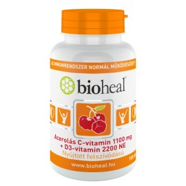 Acerolás C-vitamin 1100 mg + D3-vitamin 2200 NE