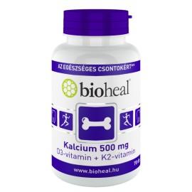 Bioheal Kalcium 500 mg + D3-vitamin + K2-vitamin 70-db