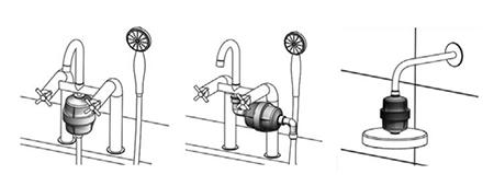 AquaSpirit SH-1 KDF töltetű zuhanyszűrő