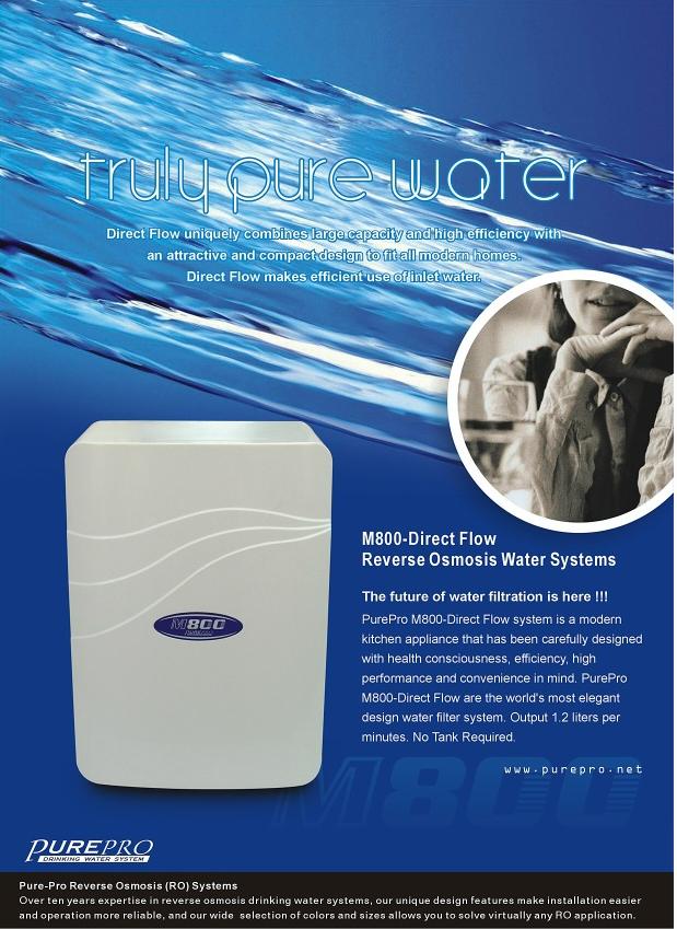 PruePro víztisztító M800DF tartály nélküli készülék.