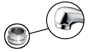 Asztali víztisztítóhoz bekötőgyűrű műanyag