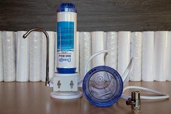 Asztali víztisztító KDF+ AG szűrőbetéttel