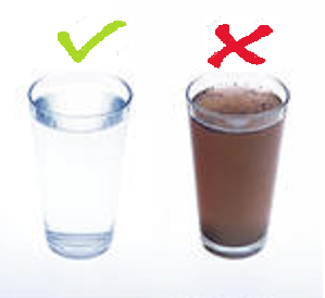 A tisztított víz íze!