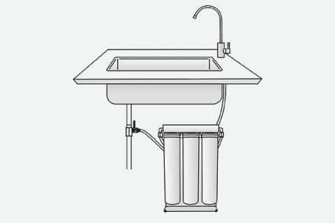 Szűrőbetét PurePro csomag- 4db ''K'' széria RO víztisztító berendezéshez